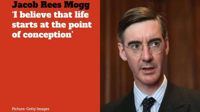 """Jacob Rees Mogg said today that he was """"saddened """" by abortion referendum result in Ireland"""