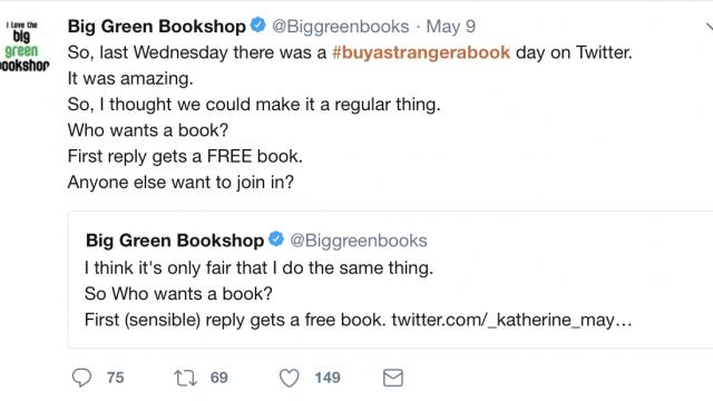 Buy a stranger a book day - Big Green Books