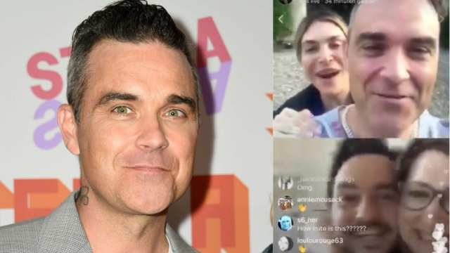 Robbie Williams and his wife streamed the live video call to thousands on Instagram