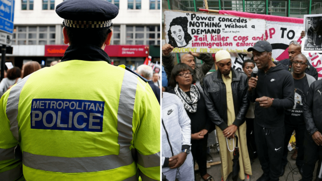 A Met Police officer and protests following the death of Rashan Charles in 2017