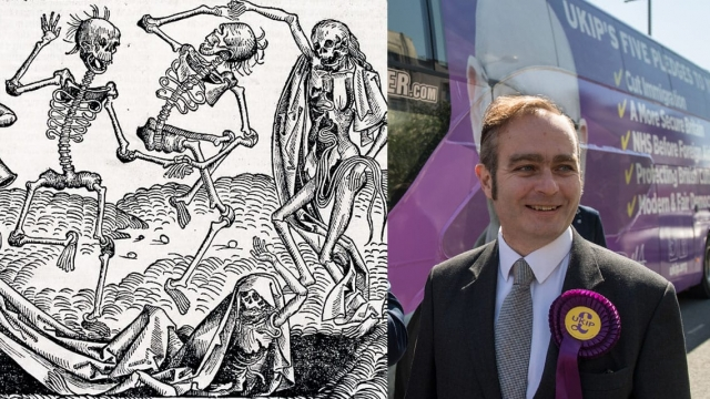 Ukip's general secretary Paul Oakley has compared his party with the Black Death