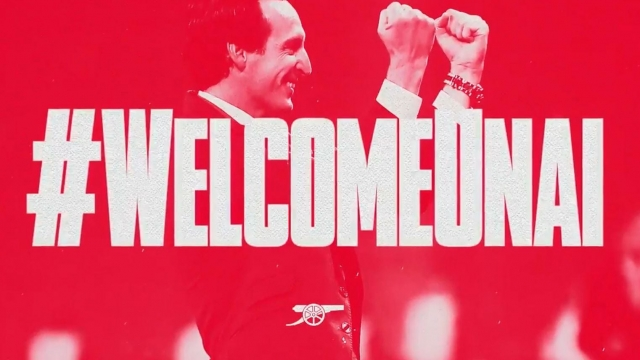 'A new chapter': Unai Emery was announced as the new head coach of Arsenal on Wednesday morning (Picture: Arsenal FC)