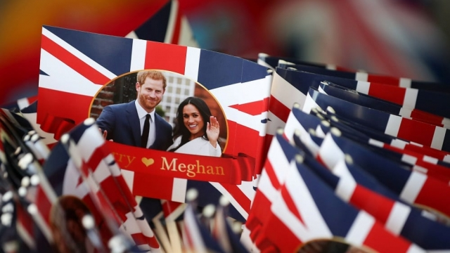 Prince Harry and Meghan Markle will tie the knot in St George's Chapel, Windsor, in a service starting at midday on Saturday 19 May. (Photo: Daniel Leal-Olivas/AFP/Getty)
