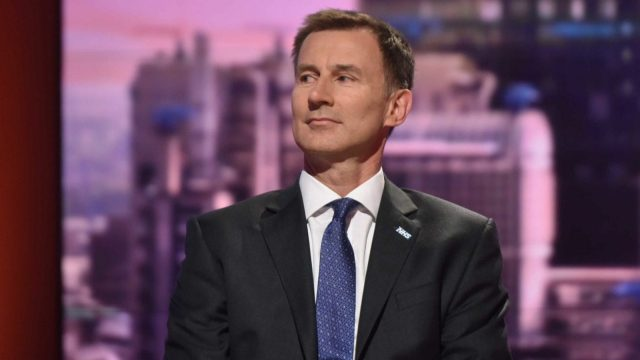 Jeremy Hunt said the NHS may not have acted swiftly enough on the syringes (Photo: PA)