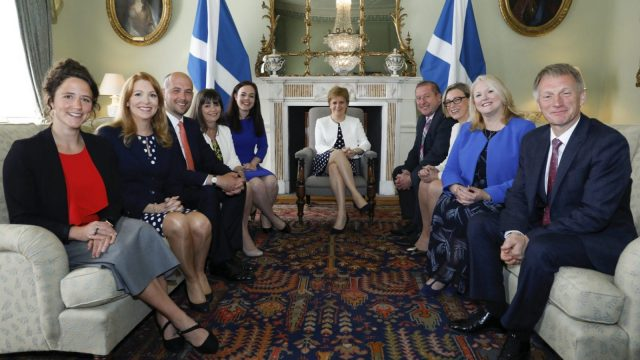 Nicola Sturgeon with her nine new ministerial appointments at Bute House in Edinburgh (Photo: Scottish Government)