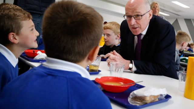 The plans, launched by Education Secretary John Swinney, are part of wider efforts to cut obesity (Photo: Scottish Government)