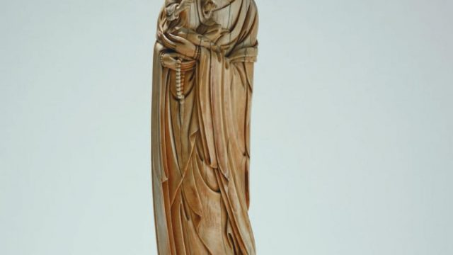 A Ming dynasty figure of Guanyin from Sir Victor Sassoon's collection of 550 Chinese ivories (The Trustees of the British Museum)