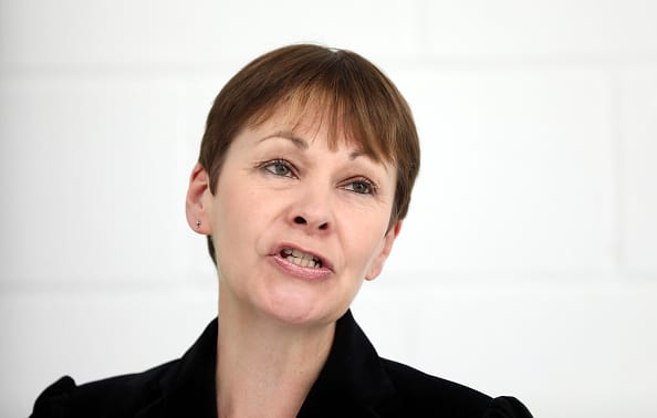 Caroline Lucas, co-leader of the Green Party was speaking at the Politics Festival at Kings Place in London (Photo: Getty)
