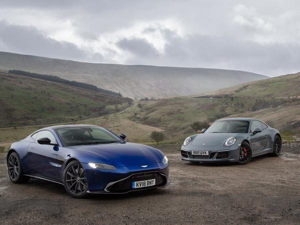 Aston Martin Vantage vs Porsche 911 Carrera GTS