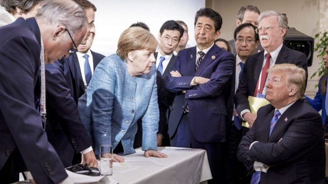 Donald Trump linked American military spending to the European Union's trade surplus with the United States. Photo: German Federal Government via AP