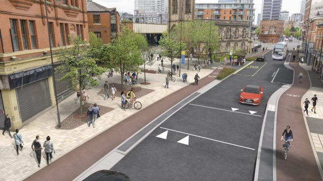 Greater Manchester is launching a huge cycling masterplan. (Photo: TfGM)