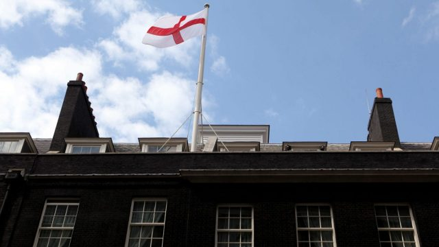 The Scotland Office will fly the St George's flag on England match days, following the lead of 10 Downing Street (Photo: Getty)
