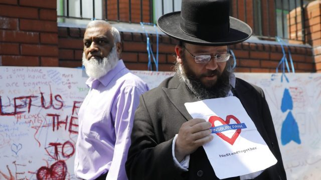 Places of worship will now be able to bid for some of the £1million the government have set aside for protection against hate crime. (Photo credit should read TOLGA AKMEN/AFP/Getty Images)