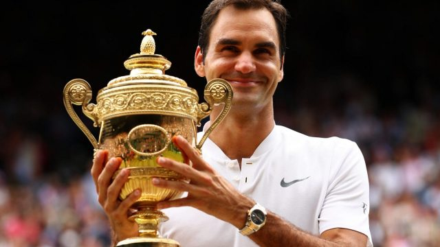 Roger Federer is the reigning Wimbledon men's singles champion (Getty)