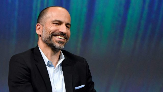 Uber's CEO Dara Khosrowshahi smiles at the VivaTech (Viva Technology) trade fair in Paris, on May 24, 2018. (Photo by GERARD JULIEN / AFP) (Photo credit should read GERARD JULIEN/AFP/Getty Images)