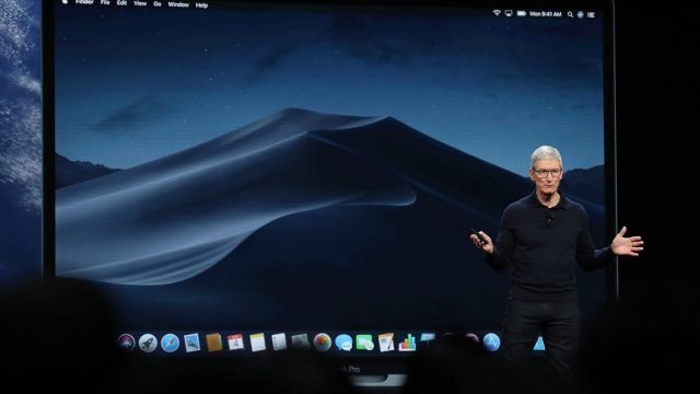 Article thumbnail: SAN JOSE, CA - JUNE 04: Apple CEO Tim Cook speaks during the 2018 Apple Worldwide Developer Conference (WWDC) at the San Jose Convention Center on June 4, 2018 in San Jose, California. The WWDC runs through June 8. (Photo by Justin Sullivan/Getty Images)