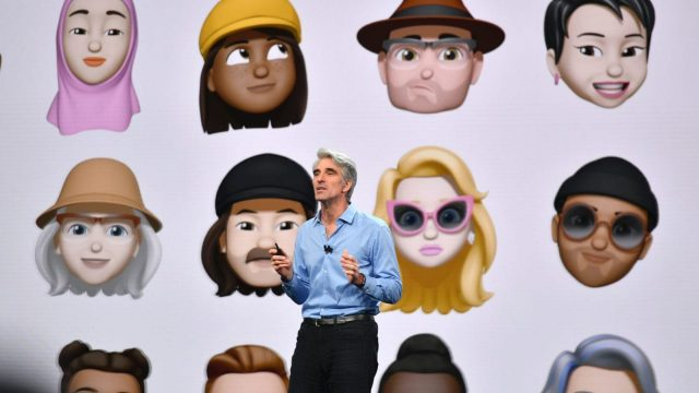 Apple Senior Vice President of Software Engineering Craig Federighi speaks at Apple's Worldwide Developer Conference (WWDC) at the San Jose Convention Centerin San Jose, California on Monday, June 4, 2018. (Photo by Josh Edelson / AFP) (Photo credit should read JOSH EDELSON/AFP/Getty Images)