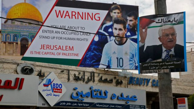 While Messi and his colleagues are to be applauded for highlighting the indefensible loss of innocent Palestinian lives, why stop there? (Getty Images)