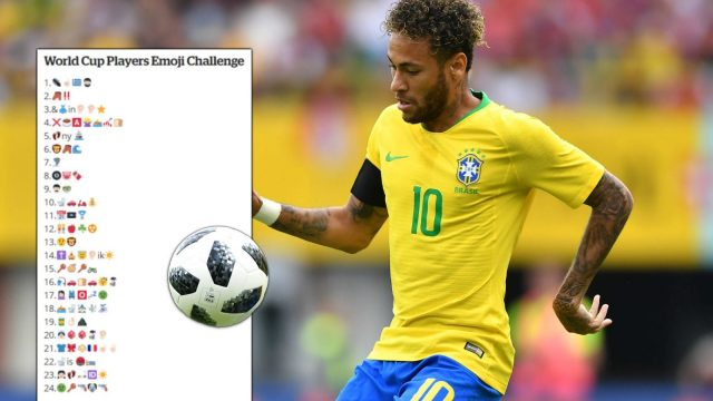 A World Cup Players Emoji Challenge has been going viral on Twitter, Facebook and in football forums. (i Paper Sport/Getty Images)