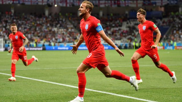 Harry Kane scored both goals as England beat Tunisia 2-1 in their World Cup opener. (Getty Images)