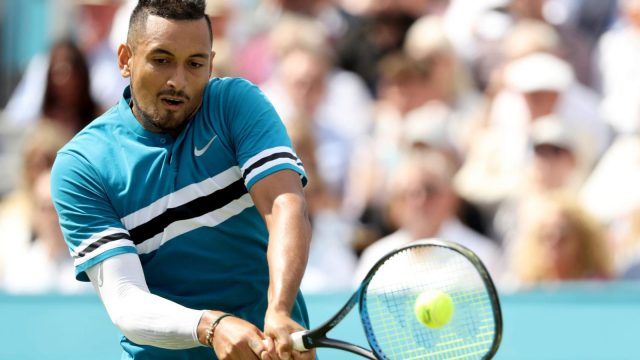 Kyrgios at the Fever-Tree Championships in June (Getty)