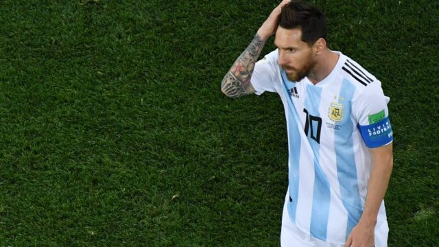 Lionel Messi was far from his best during Argentina's 3-0 defeat to Croatia on June 21. (Getty Images)