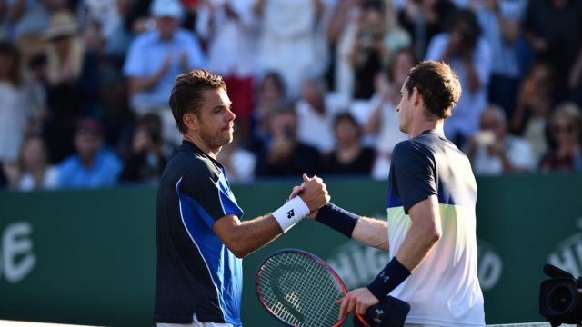 Andy Murray defeated Stan Wawrinka at Eastbourne on June 25. (Getty Images)