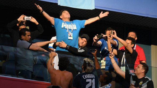 In this stage of his life, the deification of Maradona is not doing him any favours (Getty Images)