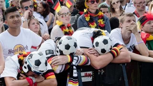 Germany fans were left devastated as the holders exited the World Cup in the group stage. (Getty Images)