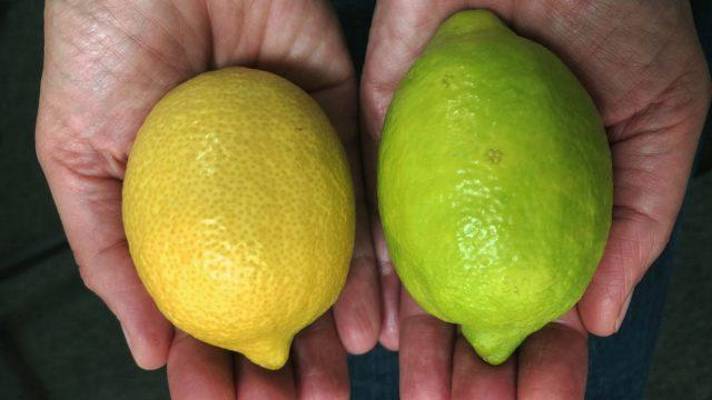 Tesco is selling green lemons