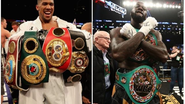 Anthony Joshua and Deontay Wilder are the only title holders in boxing's heavyweight division. (Getty Images/Edited by i Paper Sport)