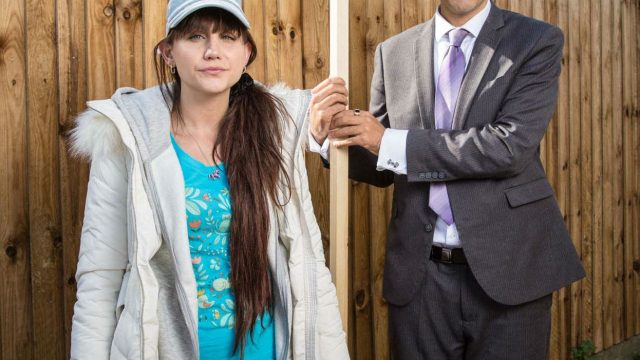 Natasia and Jamie Demetriou star as siblings in 'Stath Lets Flats' on Channel 4