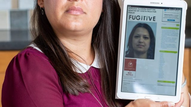 Adriana Barton from Weymouth whose photo was accidentally put on the NCA and Interpol 'Most Wanted' Britons list. (Photo: SWNS)