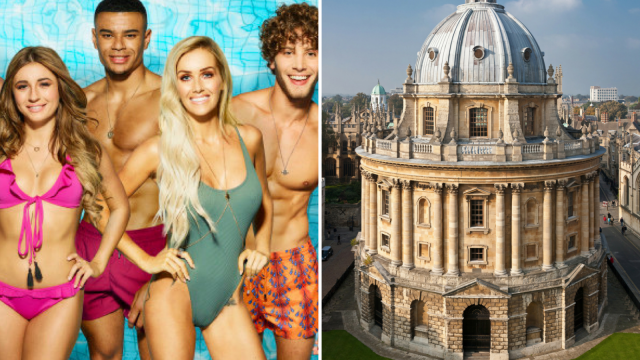 Comparing the number of Love Island and Oxbridge applicants is ridiculous