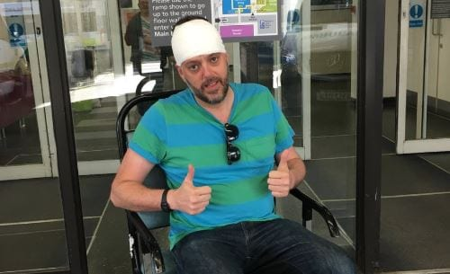 Iain Lee said he was attacked by an owl