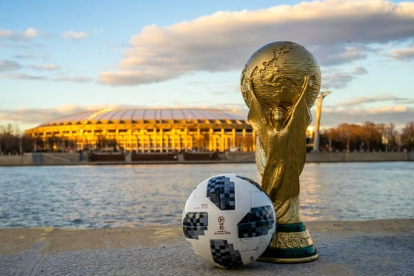 world cup trophy ball stadium moscow 2018