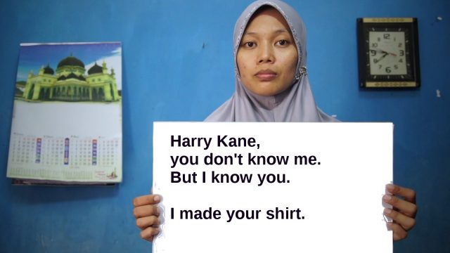 """World Cup sponsors Nike and Adidas have been accused of paying """"poverty wages"""" to the women who stitch their football shirts (Photo: Clean Clothes Campaign)"""
