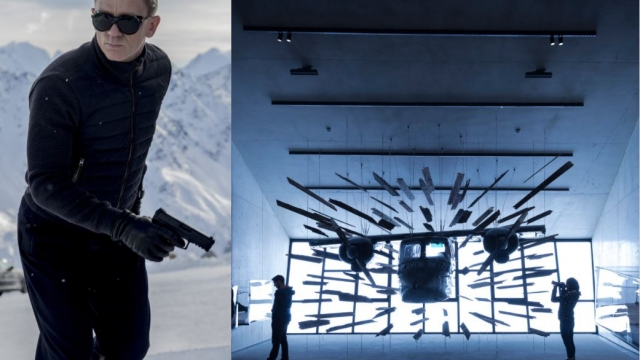 007 Elements, right, is the new James Bond installation in Solden, where Spectre was filmed starring Daniel Craig, left (Photos: Eon Productions)