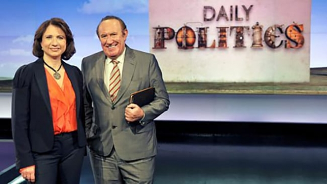 Jo Coburn and Andrew Neil will continue to host the new political show, Politics Live (Photo: BBC)