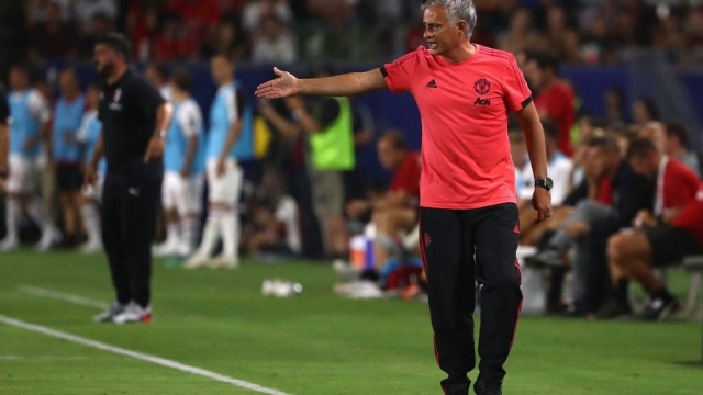 The miserable one: Manchester United boss Jose Mourinho has been in an almighty strop this pre-season (Getty Images)