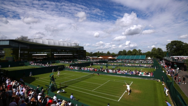 General view of the Wimbledon Lawn Tennis Championships on 3 July 2017. (Getty Images)