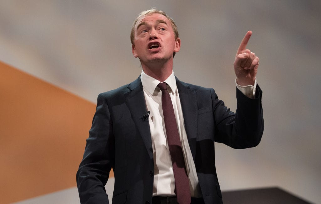 Liberal Democrat Tim Farron (Getty)