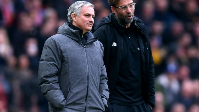 Jose Mourinho and Jurgen Klopp on the sidelines together last season (Getty Images)