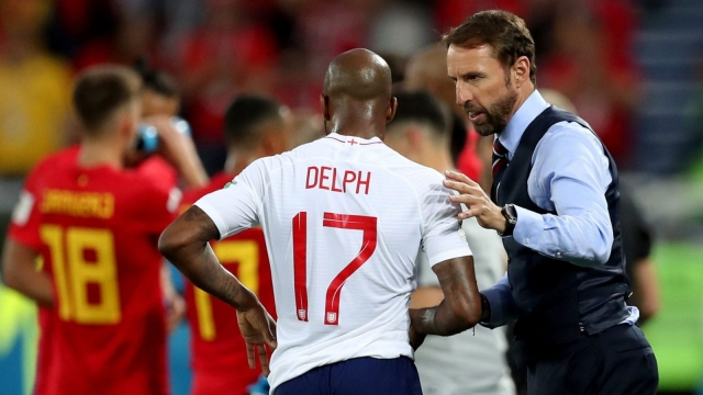 Gareth Southgate has expressed his joy that Fabian Delph is able to head home as his wife gives birth.