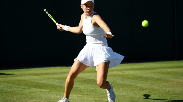 Katie Swan has reached the Second Round at Wimbledon for the first time (Getty)