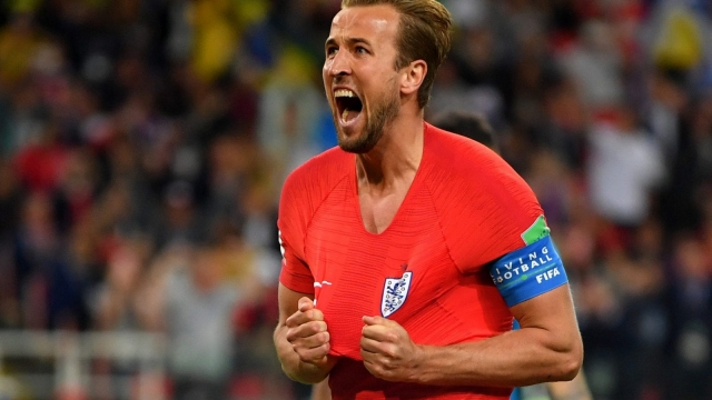 Harry Kane celebrates after England knock Colombia out of the World Cup and we round up the tweets, videos, memes and crowd reactions.