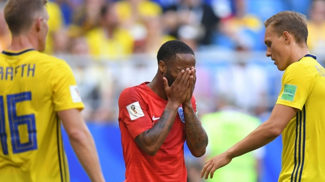 England's forward Raheem Sterling has squandered as much as he's created, which is lots. (AFP/Getty Images)