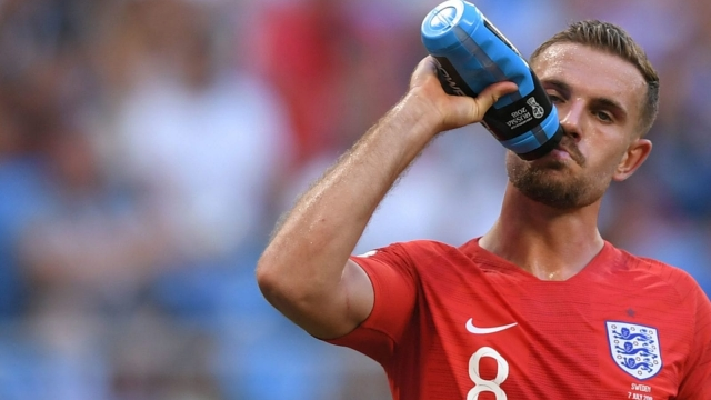 England's midfielder Jordan Henderson has recovered from his injury against Sweden in the World Cup quarter-final and should be fit to play Croatia in the semis. (AFP/Getty Images)