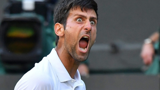 Djokovic let out an almighty roar after defeating Kyle Edmund on Centre Court on Saturday (Getty Images)