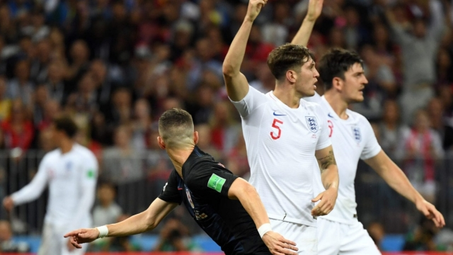 England players react after Ivan Perisic scores Croatia's equaliser (Getty Images)